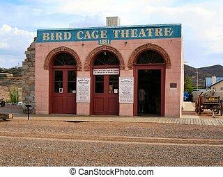 pierre tombale, -, cage d'oiseaux