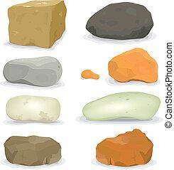pierres, rochers, ensemble