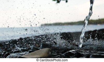 pierres, verse, eau, ruisseau