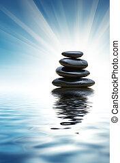 pierres, zen, pile