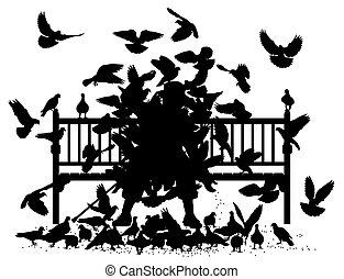 pigeon, étouffer