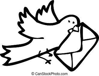 pigeon voyageur, dessin animé