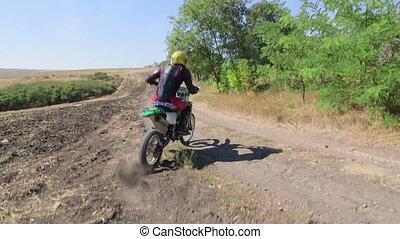 pignon protecteur, recherche saleté, coureur, vélo, motocyclette, équitation, enduro
