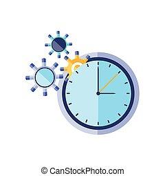 pignons, temps, montre, engrenages, horloge