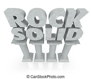 piliers, pierre, solide, fiable, stabilité, mots, rocher, marbre, colonnes