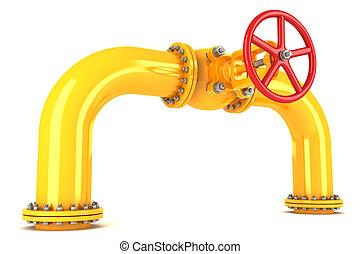 pipeline, soupape, jaune