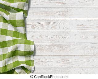 pique-nique, sommet, tissu, arrière-plan vert, table, herbe, vue