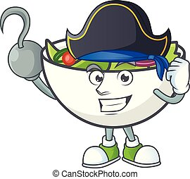 pirate, bol, salade, mascotte