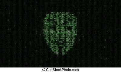 pirate informatique, personne, attack.