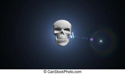 pirate informatique, server., concept, attaque, ddos
