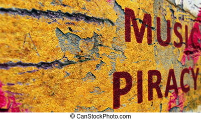 piraterie, musique, concept, grunge