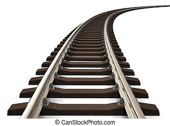 piste, courbé, chemin fer