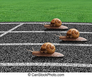 piste, course, escargots, sports