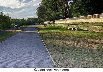 piste, jogging, parc