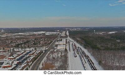pistes, neige, hiver, rail, ferroviaire, paysage
