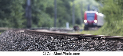 pistes, train, fond, barbouillage