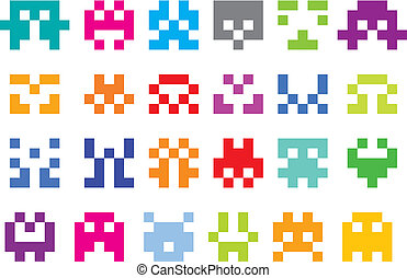 pixel, caractères
