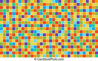 pixel, disco, vecteur, élevé, carrée, mosaic., qualité, résumé, template., multicolore, arrière-plan.