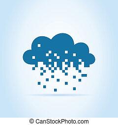 pixel, nuage