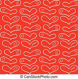plâtre, modèle, main, vecteur, dessiné, cœurs, blanc, pièce, cicatrice