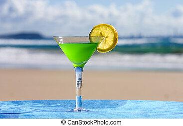 plage, alcool