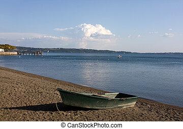 plage, bateau