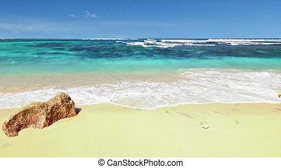 plage, boucle, océan