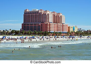 plage, clearwater, floride
