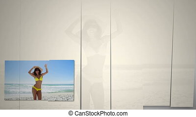 plage, danse femme