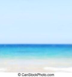 plage, fond, barbouillage, océan
