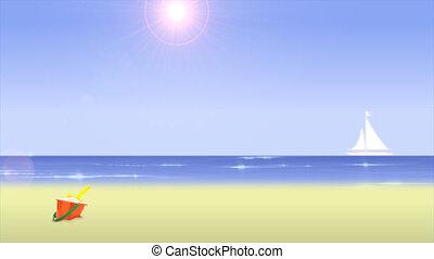 plage, jour