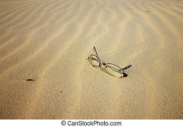 plage, lunettes