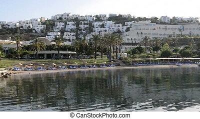 plage, méditerranéen, recours