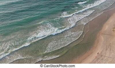 plage, prise vue aérienne