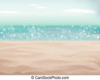 plage sable, fond, scène, beau
