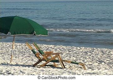 plage, sièges