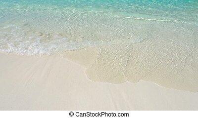 plage, similan, lavage, vagues, doucement, îles, thaïlande, petit
