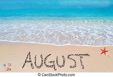 plage tropicale, août