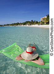 plage tropicale, scène