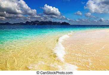 plage tropicale, thaïlande