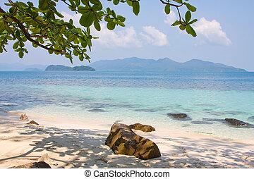 plage tropicale, thailand.