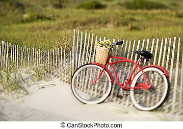 plage., vélo
