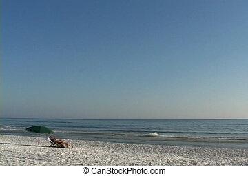plage, vacationers