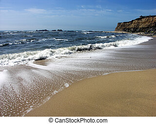plage, vagues