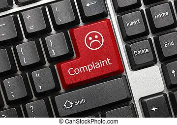 plainte, -, (red, key), clavier, conceptuel