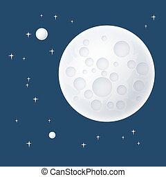 planète, étoiles, espace