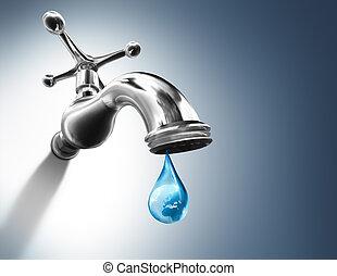 planète, baisse eau