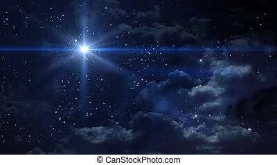 planète, bethlehem, étoile bleue, croix