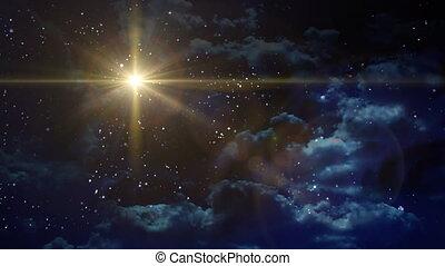 planète, bethlehem, étoile jaune, croix