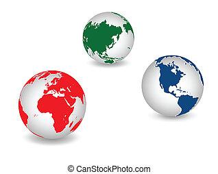 planète, global, la terre, mondiale